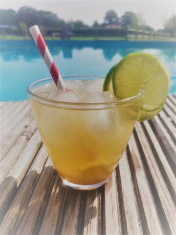 Genieten bij het zwembad van een zomerse Mocktail met Citroen, Limoen en Gember